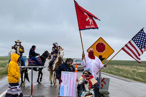 Sioux tribe checkpoints