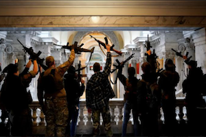 armed protesters